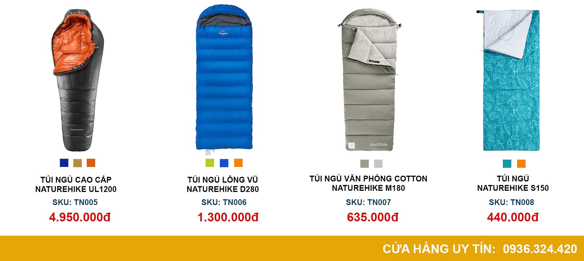 những chiếc túi ngủ giá rẻ được bán toàn quốc